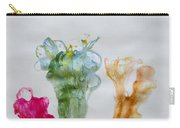 Asymetrical Flowers Carry-all Pouch