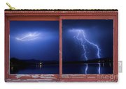 August Storm Red Barn Picture Window Frame Photo Art View Carry-all Pouch
