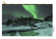 Aurora Borealis Over A Frozen Tennevik Carry-all Pouch