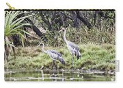 Australian Cranes At The Billabong Carry-all Pouch