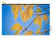 Autumn Aspen Leaves And Blue Sky Carry-all Pouch