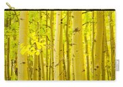 Autumn Aspens Vertical Image  Carry-all Pouch