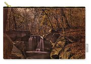 Autumn At The Waterfall In The Ravine In Central Park Carry-all Pouch