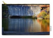 Autumn Crosses The Bridge - Greeting Card Carry-all Pouch