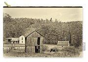Autumn Farm Sepia Carry-all Pouch by Steve Harrington