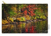 Autumn Forest And River Landscape Carry-all Pouch