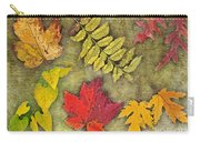 Autumn Leaf Collage Carry-all Pouch