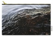 Autumn Leaf On River Rock Carry-all Pouch by Elena Elisseeva