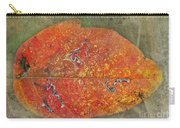 Autumn Leaf With Silver Trails Carry-all Pouch
