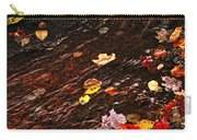 Autumn Leaves In River Carry-all Pouch