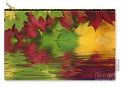 Autumn Leaves In Water With Reflection Carry-all Pouch