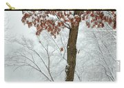 Autumn Leaves In Winter Snow Storm Carry-all Pouch