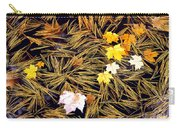 Autumn Leaves On Straw On Water Carry-all Pouch