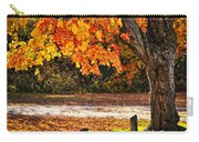 Autumn Maple Tree Near Road Carry-all Pouch by Elena Elisseeva