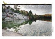 Autumn Nature Lake Rocks And Trees Carry-all Pouch