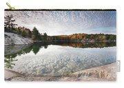 Autumn Nature Lake Rocks And Trees Panorama Carry-all Pouch