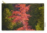 Autumn Scene Of Colorful Red Tree Along The Little Manistee River In Michigan No. 0902 Carry-all Pouch