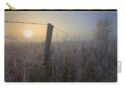 Autumn Sunrise Over Hoar Frost-covered Carry-all Pouch