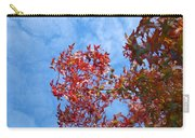 Autumn Trees Art Prints Blue Sky White Clouds Carry-all Pouch