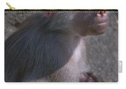 Baboon Carrying Her Baby Carry-all Pouch