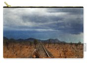 Baby Buggy On Railroad Tracks Carry-all Pouch