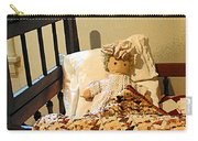 Baby Doll In Crib Carry-all Pouch