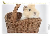 Baby Guinea Pig In A Wicker Basket Carry-all Pouch