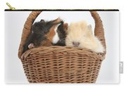 Baby Guinea Pigs In A Wicker Basket Carry-all Pouch