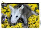 Baby Opossum In Flowers Carry-all Pouch