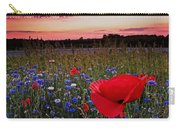 Bachelor Buttons And Poppies Carry-all Pouch
