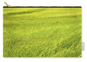 Background Of Green Summer Hay Field In Maine Carry-all Pouch