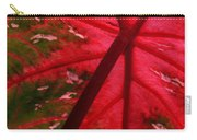 Backlit Red Leaf Carry-all Pouch