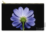 Backside Of A Blue Flower Carry-all Pouch
