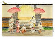 Balinese Children In Traditional Clothing Carry-all Pouch