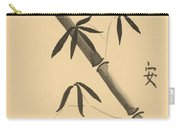 Bamboo Art In Sepia Carry-all Pouch