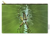 Banana Spider With Web Carry-all Pouch