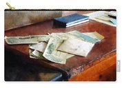 Bank Checks Dated 1923 Carry-all Pouch