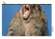 Barbary Macaque Macaca Sylvanus Yawning Carry-all Pouch