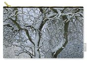 Bare, Snow-covered Tree In Winter Carry-all Pouch