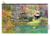 Barn And Pond In The Fall Carry-all Pouch