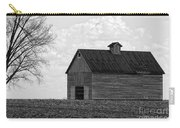 Barn And Tree In Black And White Carry-all Pouch