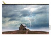Barn In Lightning Storm Carry-all Pouch
