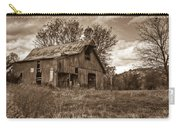 Barn In Turbulent Sky Carry-all Pouch