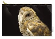 Barn Owl In A Dark Tree Carry-all Pouch