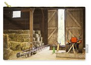 Barn With Hay Bales And Farm Equipment Carry-all Pouch by Elena Elisseeva