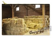 Barn With Hay Bales Carry-all Pouch