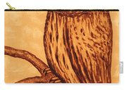 Barred Owl Coffee Painting Carry-all Pouch by Georgeta  Blanaru