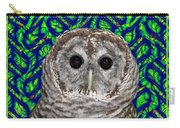 Barred Owl In A Fractal Tree Carry-all Pouch