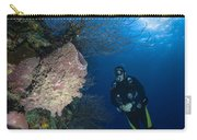Barrel Sponge And Diver, Belize Carry-all Pouch