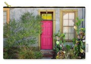 Barrio Door Pink And Gray Carry-all Pouch